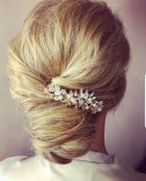 Jenna Rose Gold Pearl Bridal Hair Comb